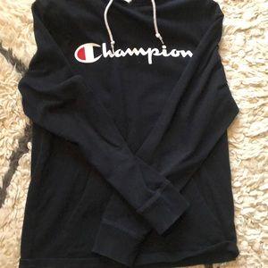 black light weight champion hoodie